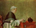Chardin Woman taking tea