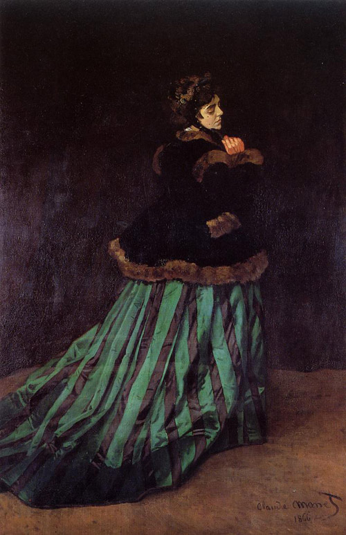 Monet Camille Woman in Green Dress