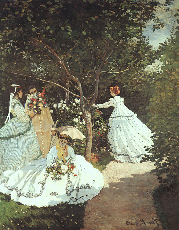 Monet Women in garden