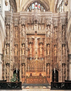 Winchester Cathedral great screen