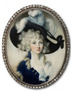 miniature portrait of unknown lady
