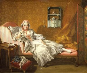 Boucher lady on daybed