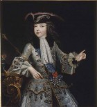 Louis XV as a child by Augustin Justinat