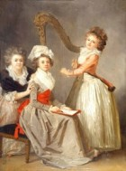 Marguerite Gerard Madame Ledoux and daughters