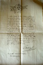 18th century French midwife diploma