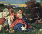 Titian Madonna of the rabbit